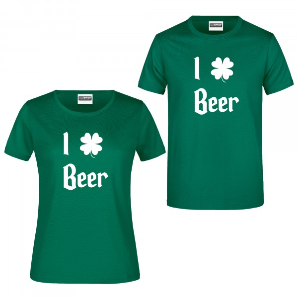 "T-Shirt ""I love beer"" (St. Patrick's Day)"