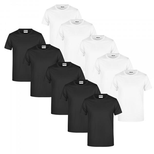 T-Shirts 5er/10er, James & Nicholson
