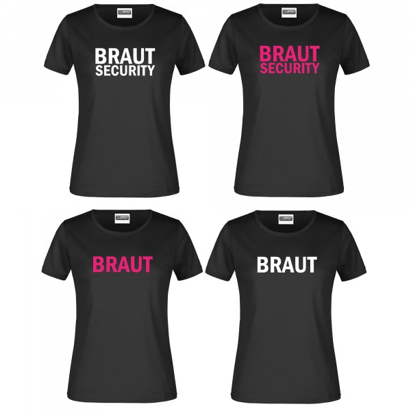 "T-Shirt JGA ""Braut"" oder ""Braut Security"""