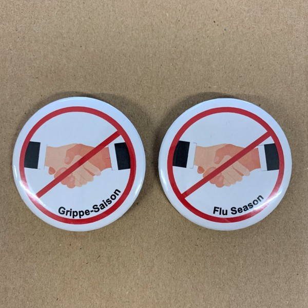 10 Buttons Grippe Saison / Flu Season