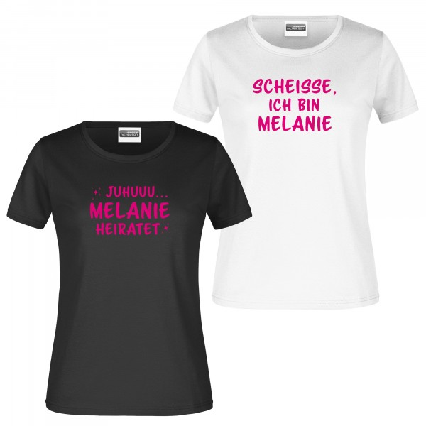 "T-Shirt ""Juhuuu, Scheiße..."" JGA-Damen"